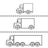 Set ładunek przewozi samochodem wektorową ilustrację Fotografia Royalty Free