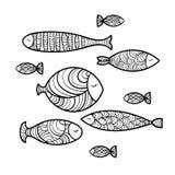 Set śliczna denna ryba również zwrócić corel ilustracji wektora Royalty Ilustracja