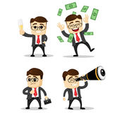 Set śliczni charaktery biznesmeni i urzędnik pozy wektor Kierownika charakter Zdjęcie Stock