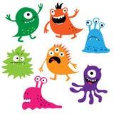 Set śliczni kolorowi potwory royalty ilustracja
