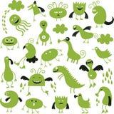 Set śliczni potwory Obrazy Royalty Free