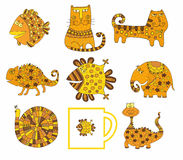 Set śliczni zwierzęta Obrazy Stock