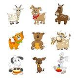 Set śliczny kreskówki zwierzęcia charakter Zdjęcie Royalty Free
