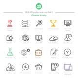 Set Śmiałe uderzenia SEO i rozwoju ikony Ustawia 2 Obrazy Royalty Free