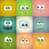 Set śmieszne wektorowe twarze royalty ilustracja