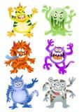 Set śmieszni kreskówka potwory royalty ilustracja