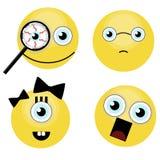Set śmieszni uśmiechy Zdjęcie Stock