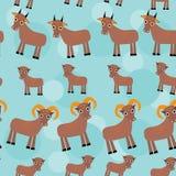 Set śmieszni zwierzęta z lisiątkami Kózki bezszwowe Fotografia Royalty Free