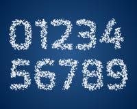 Set śnieżne cyfry Obraz Stock