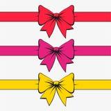 Set świąteczni łęki Obrazy Royalty Free
