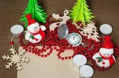 Set świąteczni przedmioty dekorować pokoje Obrazy Royalty Free