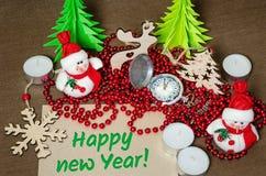 Set świąteczni przedmioty dekorować pokoje pojęcie domowa wygoda Zdjęcia Stock