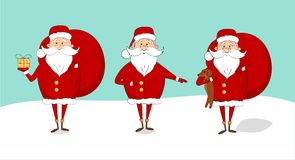 Set Święty Mikołaj na śnieżnym część 2 Obraz Stock