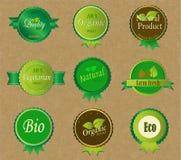 Set Świeże Organicznie etykietki i elementy Zdjęcie Stock