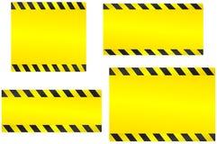 Set żółci budów tła Obraz Royalty Free