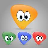 Set żółci emoticons Zdjęcia Stock