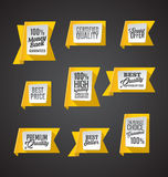 Set żółci sztandary Obrazy Stock