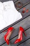 Set żeński elegancki ubiór obrazy stock
