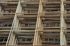 Set żelazna siatka dla betonu obraz stock
