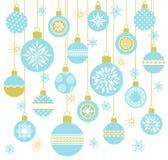 895_Set безделушек рождества вектора иллюстрация штока