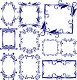 Set of 10 decorative frames Stock Images