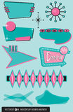 Set of 10 Midcentury Modern Design Elements vector illustration