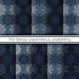 Set of 10 Seamless Decorative Floral Patterns Royalty Free Stock Images