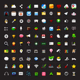 Set of 100 icon for mobile app and user interface vector eps10. Set of 100 icon for mobile app and user interface vector Royalty Free Stock Photo
