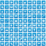 Set of 100 icons for each day. Media, web and business applications Royalty Free Stock Images