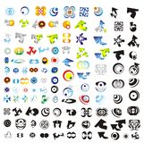 Set of 110 more logos. A big collection of 110 more company logos or corporate symbols vector illustration