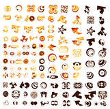 Set of 110 more logos Stock Image