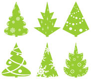 Set. Of Christmas abstract fur-trees Stock Photography