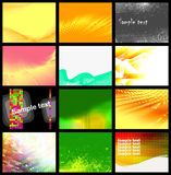 Set of 12 backgrounds, vector. Without gradient Stock Image
