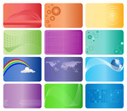 Set of 12 business Cards. Set of 12  colorful business Cards Royalty Free Stock Images