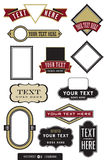 Set of 12 logo designs. A wide selection of logo and label shapes and frames. Need a quick logo? Just drop your text into one of these babies and your off to the Stock Photo