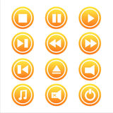 Set of 12 music signs Royalty Free Stock Images