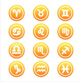 Set of 12 zodiac signs Royalty Free Stock Image