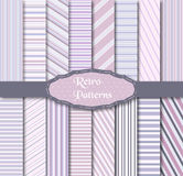 Set of 16 different patterns. Vector illustration of different patterns Royalty Free Stock Images