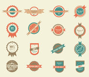 Set of 16 vintage badges Stock Images