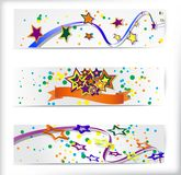 Set of the 160x600 abstract banners. Royalty Free Stock Images