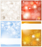 Set. Four backgrounds with place for text Royalty Free Stock Image