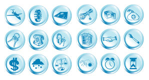 Set of 18 icons Royalty Free Stock Images
