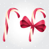 Set of 2 candy canes Stock Photography