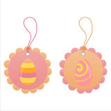 Set of 2 easter tags Stock Photo