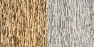 Set of 2 goffered paper textures: brown and white Royalty Free Stock Photography