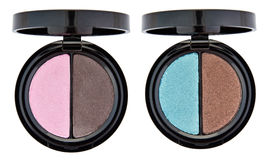 Set of 2 multicolored eye shadows Stock Photo