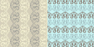 Set of 2 seamless. Set of 2 classic decorative seamless backgrounds Stock Image