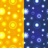 Set of 2 seamless abstract floral patterns Royalty Free Stock Photo