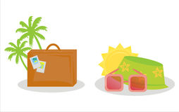 Set of 2 traveling icons. Set of 2 colorful traveling icons Royalty Free Stock Images
