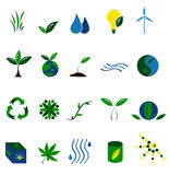 Set of 20 Environmental Icon. With earth, leaves, energy, renewable concept Royalty Free Stock Image